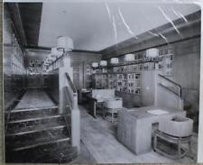 CUNARD WHITE STAR LINE RMS QUEEN ELIZABETH STUART BALE 1ST CL LIBRARY ORIG PHOTO