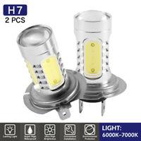 2x H7 mené l'ensemble phare d'amélioration de xénon blanc superbe ampoules 80W G