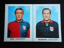 FIGURINA CARTONATA EDIS 1968/69 DOPPIA DISTRIBUTORE RIVA/REGINATO CAGLIARI