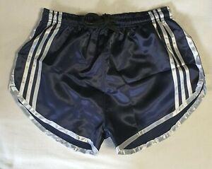 Nylon Satin Sprint Shorts mit Gummizug Retro Fußball Shorts Größe XL
