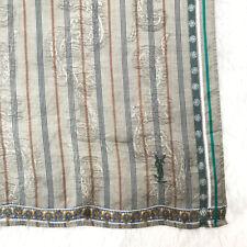 YvesSaintLaurentScarf Textile Silk Paisley Stripe Antique Handkerchief Neckscarf