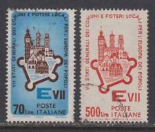 Italy # 897 - 898 , European Towns , 2 F-VF Used Stamps - I Combine S/H