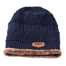 Men Women Winter Knitted Crochet Slouch Ski Cap Beanie Knitting Wool Fleece Hat