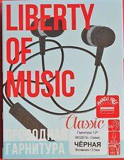 LIBERTY OF MUSIC Headphone Earphone For MP3 Music,DVD,IPod With Mic