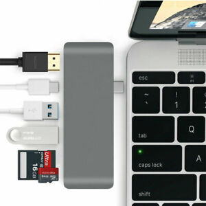 Gextek Alloy 6 IN 1 Type-C 4K HDMI Hub USB-C 3.1 Port TF SD