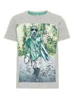 NAME IT Jungen kurzarm T-shirt NKMCris Surfing grau Größe 122/128 bis 158/164