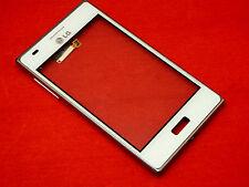 Original LG Optimus L5 E610 Touchscreen Digitizer Display Glas mit Rahmen Weiß