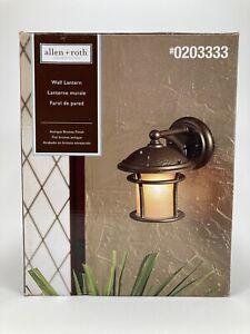 Allen+Roth  Outdoor Wall Lantern # 0203333 Antique Bronze