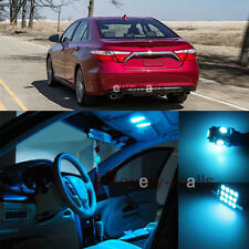 Deluxe Ice Blue Light Interior LED Package Kit For Toyota Camry 2012-2015 11Pcs
