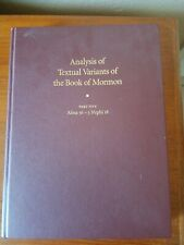 Analysis of Textual Variants of the Book of Mormon Part 5 HARDCOVER  USED