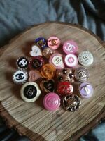 21 Mixed Color Chanel Button Replacement Sewing Accessories - ML01