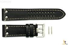 Luminox 1828 1848 Field 23mm Black Leather Watch Band Strap w/ 2 Pins
