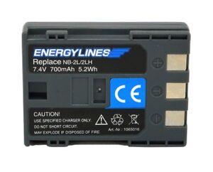 Batterie pour Canon BP-2L5; BP-2L5; BP-2LH ; NB-2L De Energylines