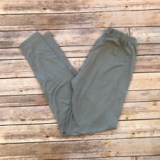 Silver Gray Solid Women's Leggings PS Plus Size TC 12-20 Buttery Soft