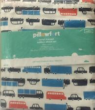 Toddler Transportation 100% Cotton Sheet Set - Pillowfort, 220 Thread Count