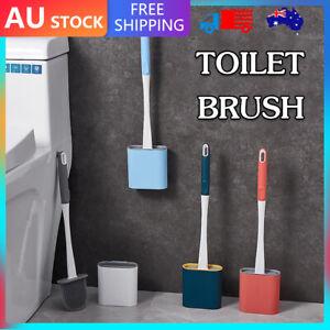 Bathroom Silicone Bristles Toilet Brush Creative Cleaning Flex Revolutionary AU