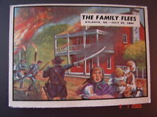 1962 Topps Civil War News THE FAMILY FLEES # 75  Non-Sports Trading Card