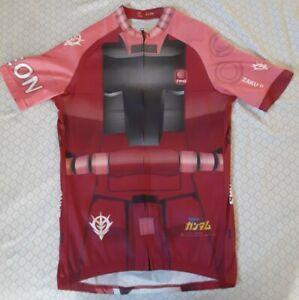 Limited Edition Gundam Char Aznable Zaku 2 Cycling Bike Jersey Asian XL / Medium