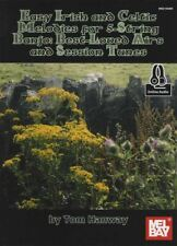 Easy Irish & Celtic Melodies for 5-String Banjo TAB Book with Audio Airs Tunes