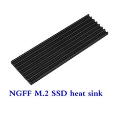 M.2 NGFF NVMe 2280 PCIE SSD Aluminum Cooling Heat Sink with Thermal Pads