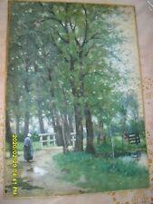 impressionist painting nicolaas Bastert dutch 1881  watercolor 1854-1939 art