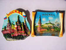 Russia Moscow Scenery Resin Refrigerator Magnets Tourist Souvenirs Kitchen Decor