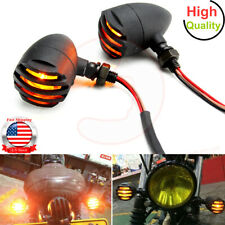 4x Metal Plating Motorbike Turn Signal Indicator Light For Harley Chopper Cafe Good Quality With Metal Body Price Remains Stable Electric Vehicle Parts