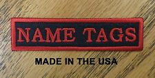 Custom Embroidered Name Tag Biker Vest Patch MC Club Outlaw Patches Made in USA
