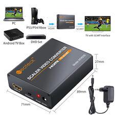 HDMI vers PÉRITEL Composite Convertisseur Vidéo Adaptateur Audio avec