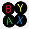 Set of 4 Xbox Button Design Gaming Coasters - Printed Acrylic - Round - Gift