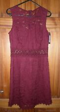 NEW NEW LOOK BURGUNDY LACE DRESS SIZE 8