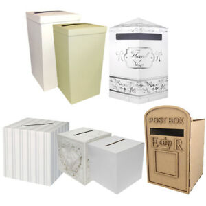 Wedding Card Post Box Evening Party Receiving Mailbox Reception Postbox Slot UK