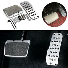 Car Foot Pedal Pad Brake Transmission Non-Slip Automatic Universal Alloy Silver
