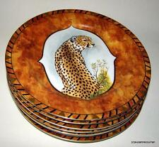 """Lynn Chase AFRICAN PORTRAIT 9 3/8"""" Plate Set of SEVEN"""