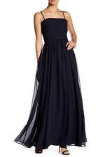 NEW Vera Wang MIDNIGHT Strapless Pleated Full-Length Dress.SZ:10