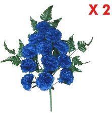 Blue Carnation Memorial Flower (Pack 2 Sprays) Indoor Outdoor Cemetery Grave