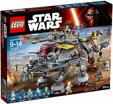 BRAND NEW STAR WARS LEGO SET #75157 CAPTAIN REX'S AT-TE, HARD TO FIND, FAST SHIP