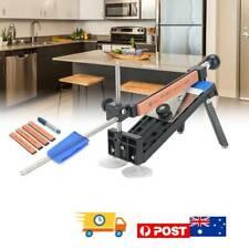 Professional Chef Knife Sharpener Kitchen Sharpening System Fix Angle 4 Stones