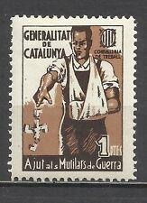 1336-SPAIN CIVIL WAR ESPAÑA GUERRA CIVIL AJUTS MUTILATS** LUXE.CATALUNYA 1 PTA
