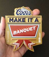 Coors Banquet Beer Christmas Ornaments - sold individually - shipping discount