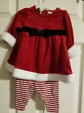 Baby Cat & Jack 3 pc set size 6-9 months NWT Christmas little Ms Claus outfit