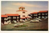 Franciscan Motel Street View 1950's Cars San Francisco California Postcard CA