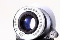 Rare Tokyo Opt. Co Simlar 5cm 50mm F/3.5 LTM39 Lens From Japan#5644