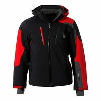 Spyder Mens Dispatch Ski Jacket Waterproof Breathable Insulation Warm Chin Guard