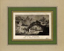 1795 ROMA - Rovine antiche Aventino - incisione a bulino originale - D. Pronti