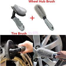 2Pcs Universal Car Motorcycle Wheel Tire Rim Hub Cleaning Brush Wash Scrub Tools