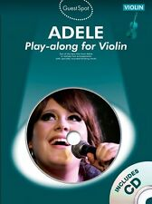 Guest Spot Adele Play Cold Shoulder Chasing Pavements Violin Music Book & CD