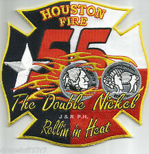 "Houston  Station-55  ""Double Nickel-In Heat"", TX  (4.5"" x 4.5"" size) fire patch"