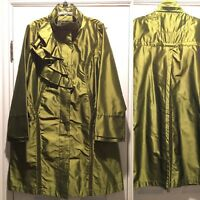 Flair Iridescent Green Raincoat Ladies Size Small