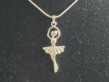 925 Sterling Silver Ballet Dancer Pendant Includes Italian Snake Chain